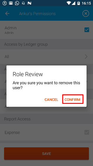 Confirm Remove User